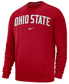 Nike Men's Ohio State Buckeyes Cotton Club Crew Neck Sweatshirt