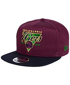 New Era Philadelphia 76ers 90s Throwback 9FIFTY Snapback Cap