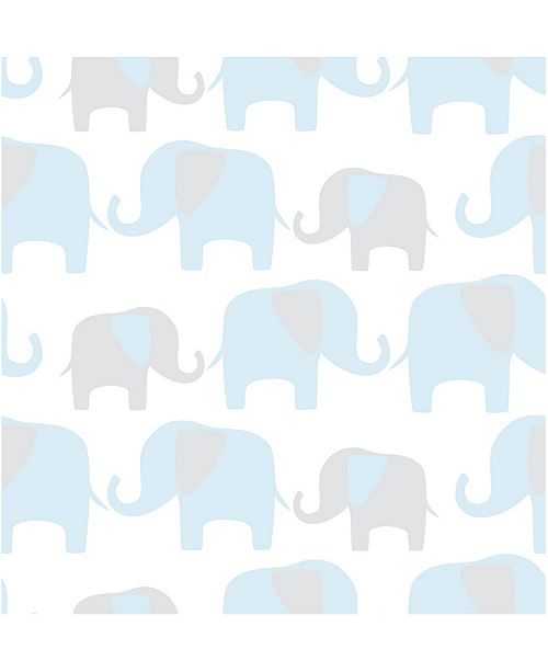 Brewster Home Fashions Blue Elephant Parade Peel And Stick Wallpaper Reviews Home Macy S