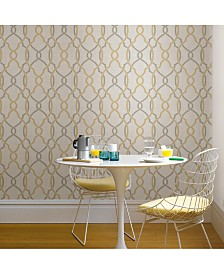 Sausalito Taupe Or Yellow Peel And Stick Wallpaper