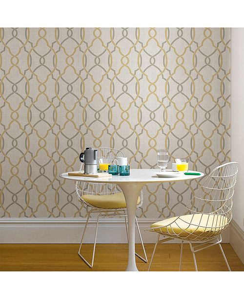 Brewster Home Fashions Sausalito Taupe Or Yellow Peel And Stick Wallpaper