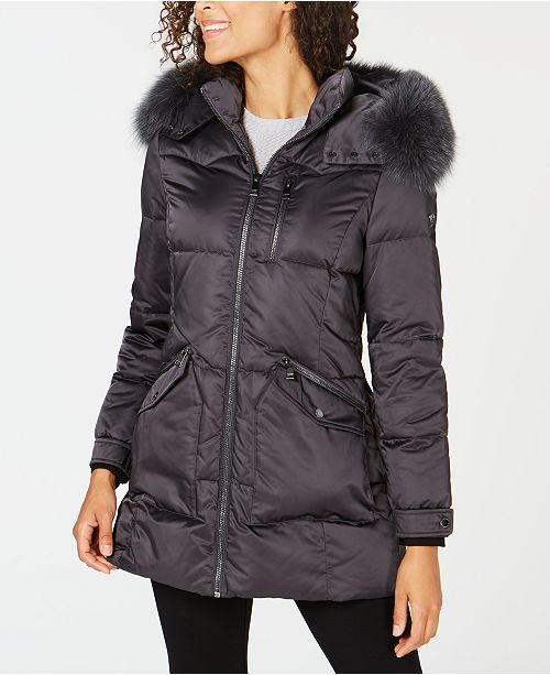 6984f4f0d2d2f6 1 Madison Expedition Fox-Fur-Trim Hooded Puffer Coat & Reviews ...
