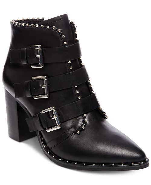 afd03772fef Steve Madden Women s Humble Studded Booties   Reviews - Boots ...