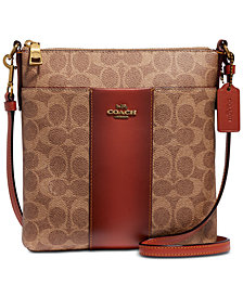 COACH Colorblock Coated Canvas Signature Messenger Crossbody