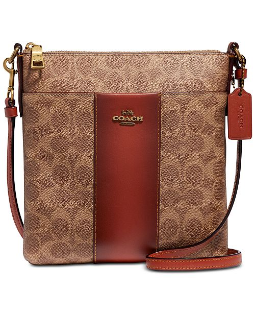 73df060ecfd4 ... COACH Colorblock Coated Canvas Signature Messenger Crossbody ...
