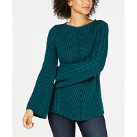 Style & Co Ribbed and Cabled Fitted Sweater Deals