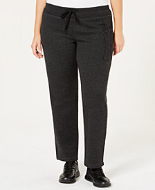Calvin Klein Performance Plus Size Slim Fleece Pants