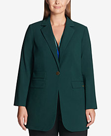 Calvin Klein Plus Size Single-Button Blazer Jacket
