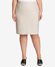 Calvin Klein Plus Size Tweed Pencil Skirt