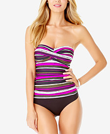Anne Cole Bandeau Tankini Top & Bottoms