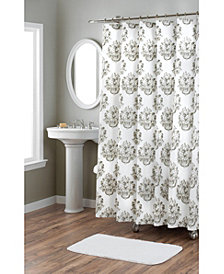 Nicole Miller Tabitha Printed Spring Cotton Shower Curtain
