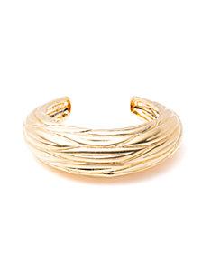 Trina Turk Etched Leaf Cuff Bracelet