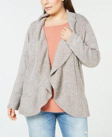 Karen Scott Plus Size Cocoon Cardigan Sweater, Created for Macy's