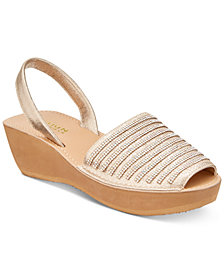 Kenneth Cole Reaction Women's Fine Stripe Wedge Sandals