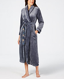 Sesoire Long Fleece Wrap Robe