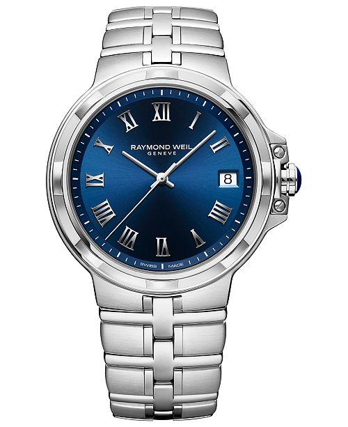 Raymond Weil Men's Swiss Parsifal Stainless Steel Bracelet Watch 41mm