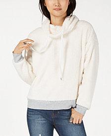 Ultra Flirt by Ikeddi Juniors' Faux-Fur Sweatshirt