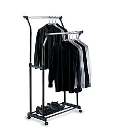 Organize it All Double Adjustable Garment Rack