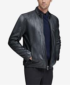 Men's Weston Full-Zip Leather Moto Jacket, Created for Macy's