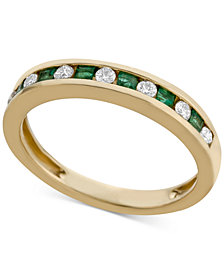 Emerald (1/4 ct. t.w.) & Diamond (1/5 ct. t.w.) Band in 14k Gold