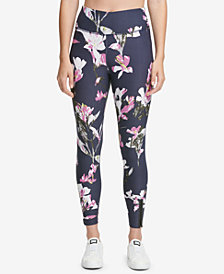 DKNY Sport Twilight Iris Printed High-Waist Leggings