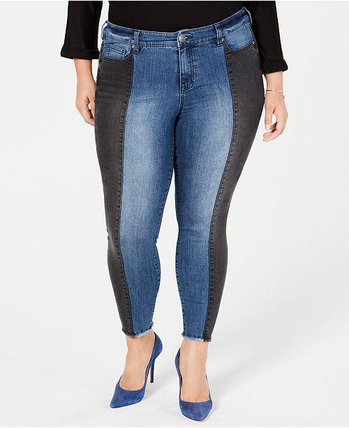 6a7112ace48 Celebrity Pink Trendy Plus Size Colorblocked Skinny Jeans - Jeans ...