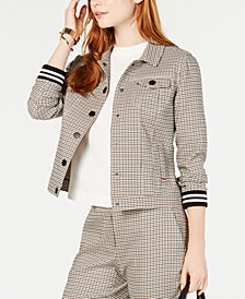 Tommy Hilfiger Checked Trucker Jacket, Created for Macy's