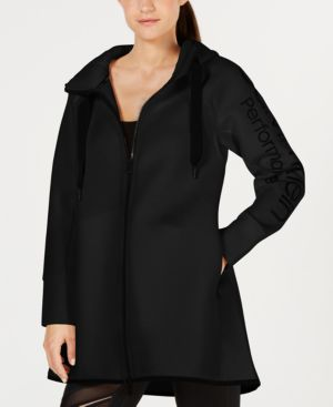 Performance Dolman-Sleeve Hooded Walker Jacket, Black