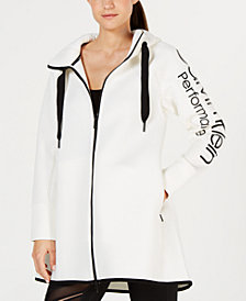 Calvin Klein Performance Dolman-Sleeve Hooded Walker Jacket