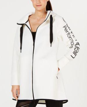 Performance Dolman-Sleeve Hooded Walker Jacket, White