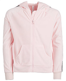 Ideology Big Girls Zip-Up Velour Hoodie, Created for Macy's