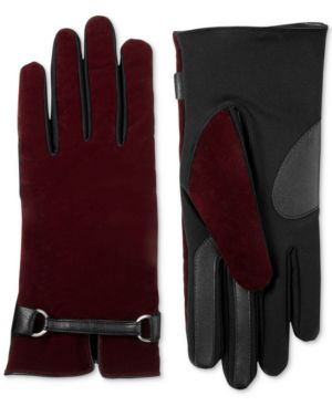 Isotoner Signature Women's Velvet Buckle Touchscreen Gloves 6571626