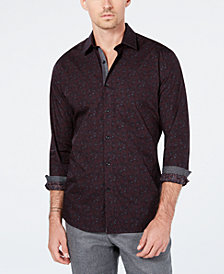 Ryan Seacrest Distinction™ Men's Woven Floral Shirt, Created for Macy's