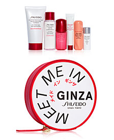 Choose your free 7-pc gift with $75 Shiseido purchase (Up to a $101 Value)!