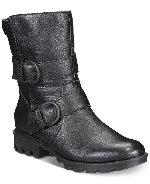 1129d95a7c55 Sorel Women s Phoenix Moto Boots   Reviews - Boots - Shoes - Macy s