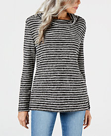 Karen Scott Cowl-Neck Top, Created for Macy's
