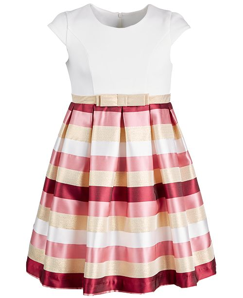 32061ffd3077 Bonnie Jean Toddler Girls Jacquard Striped Metallic Dress   Reviews ...