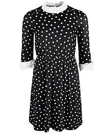 Monteau Big Girls Chiffon Ruffle-Neck Dress