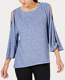 Calvin Klein Performance Open-Sleeve Top