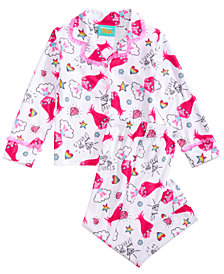 Trolls by DreamWorks Toddler & Little Girls 2-Pc. Printed Pajama Set