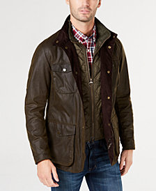 Barbour Men's Orion Waxed Jacket, A Sam Heughan Exclusive, Created for Macy's