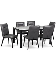 Callisto Marble Dining 7-Pc. Set (Table & 6 Side Chairs), Created for Macy's