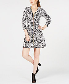 I.N.C. Animal-Print Sweater Dress, Created for Macy's