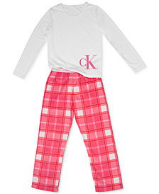 Calvin Klein Big Girls 2-Pc. Pajama Set