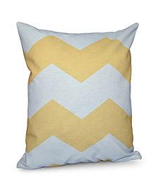 16 Inch Yellow Decorative Chevron Throw Pillow