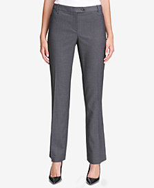 Calvin Klein Pinstriped Straight-Leg Pants