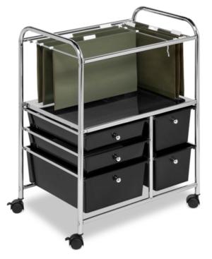 Honey Can Do Hanging File Storage Cart 5 Drawer