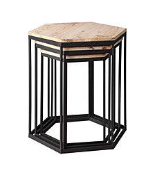 Layton Set of 3 Nesting Sextagon Tables