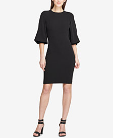 DKNY Balloon-Sleeve Sheath Dress, Created for Macy's