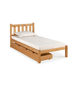 Poppy Twin Bed with Storage Drawers